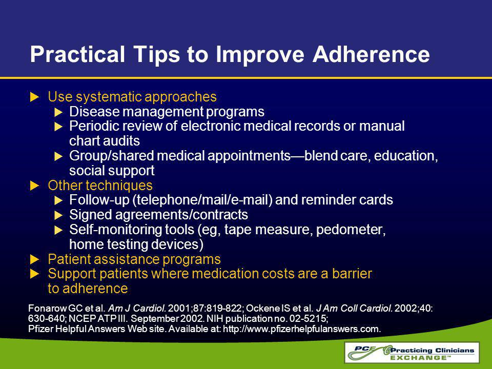 Practical Tips to Improve Adherence