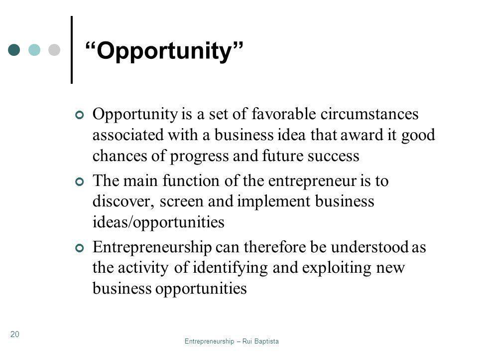 Entrepreneurship – Rui Baptista