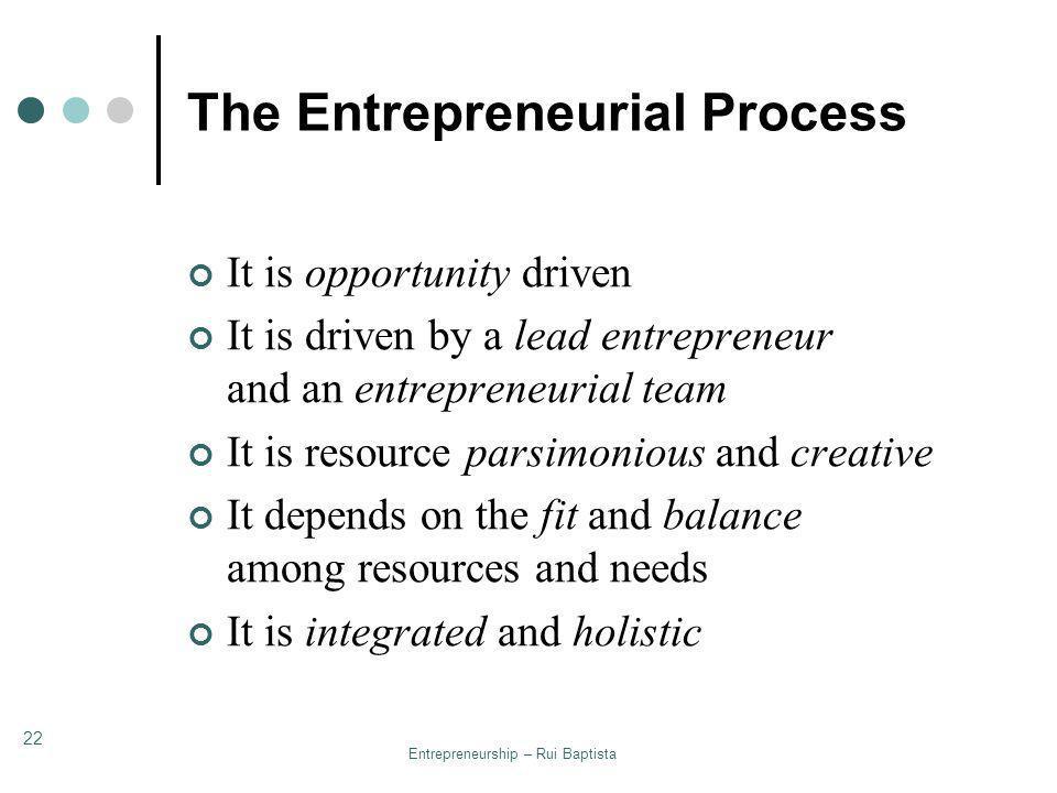 The Entrepreneurial Process