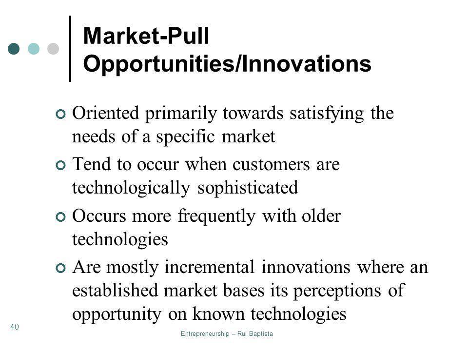 Market-Pull Opportunities/Innovations