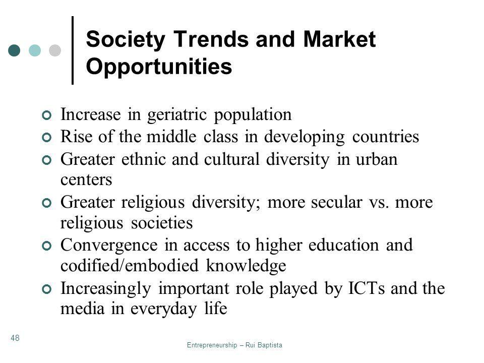 Society Trends and Market Opportunities