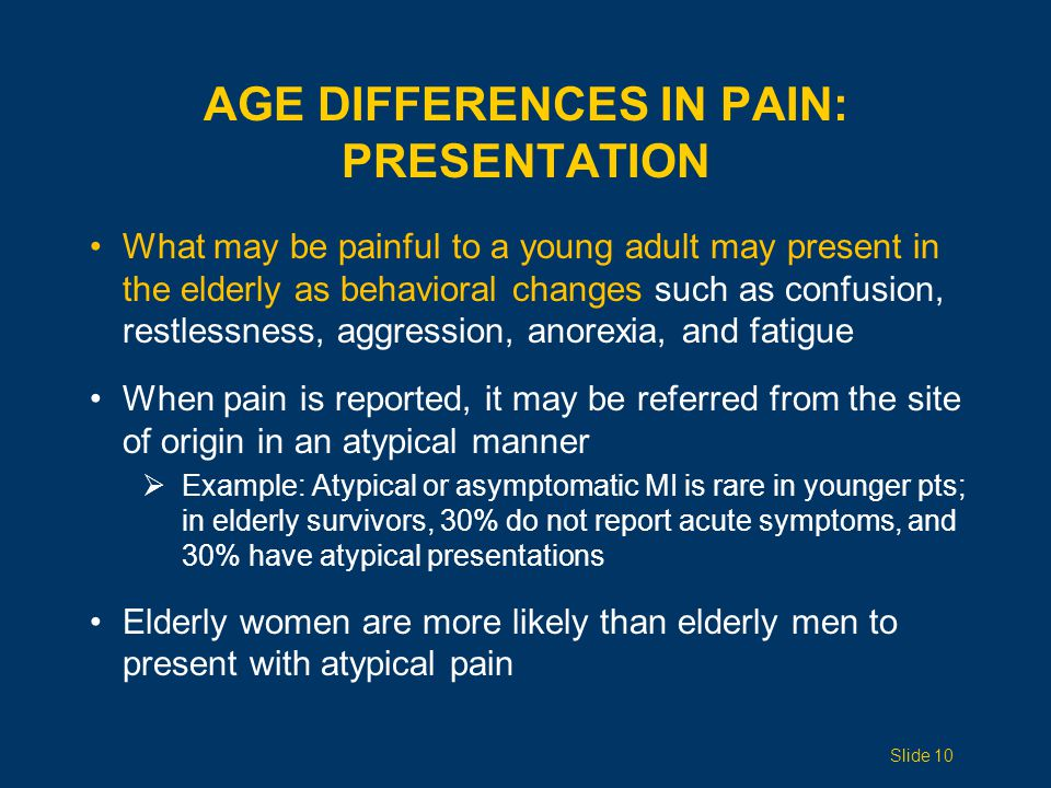 Age Differences in Pain: PRESENTATION