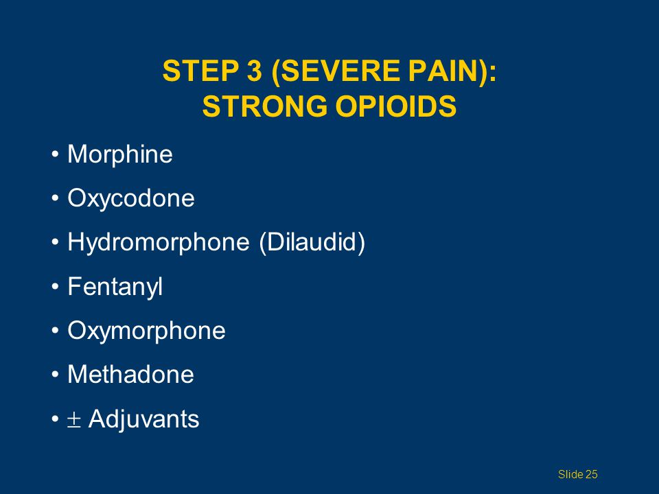 Step 3 (Severe PAIN): Strong Opioids