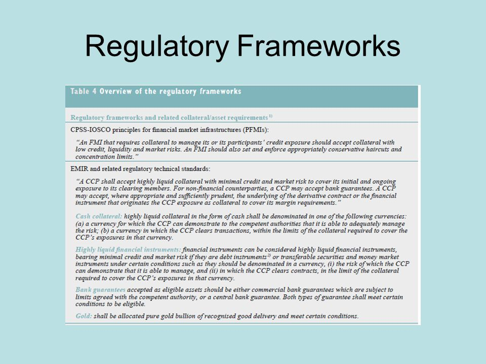 Regulatory Frameworks
