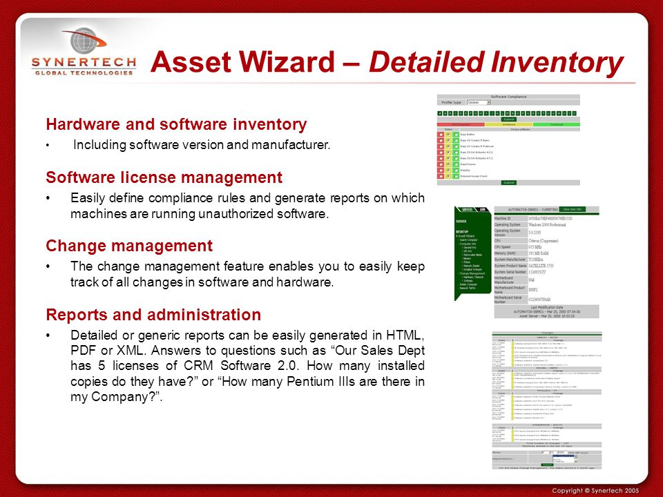 Asset Wizard – Detailed Inventory