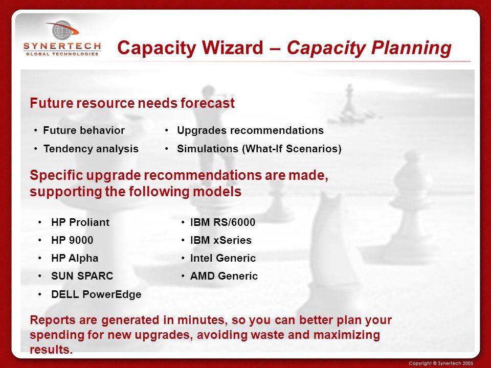 Capacity Wizard – Capacity Planning