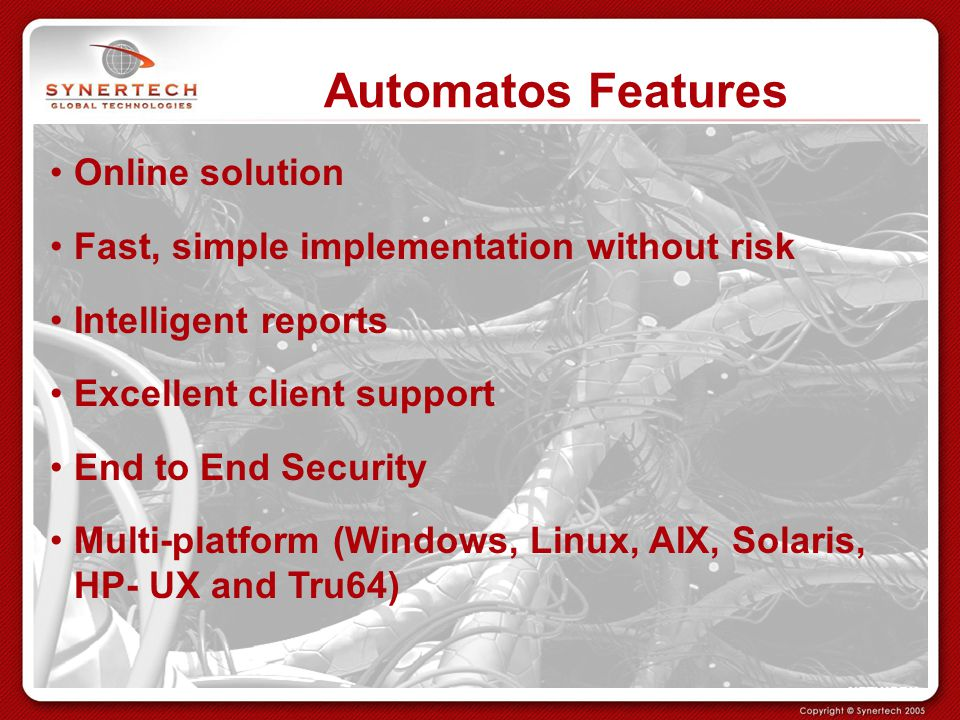 Automatos Features Online solution
