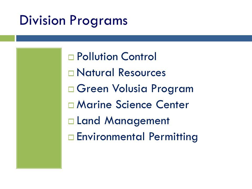 Division Programs Pollution Control Natural Resources