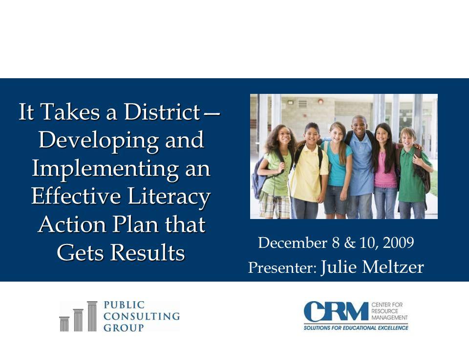 December 8 & 10, 2009 Presenter: Julie Meltzer