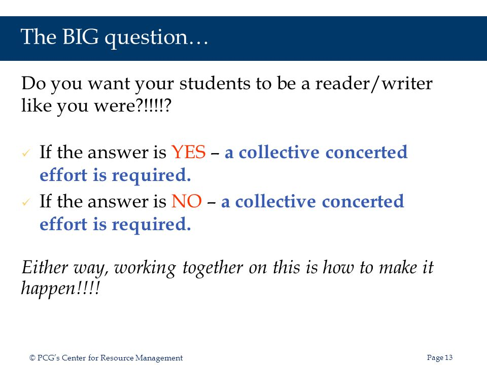 The BIG question… Do you want your students to be a reader/writer like you were !!!!