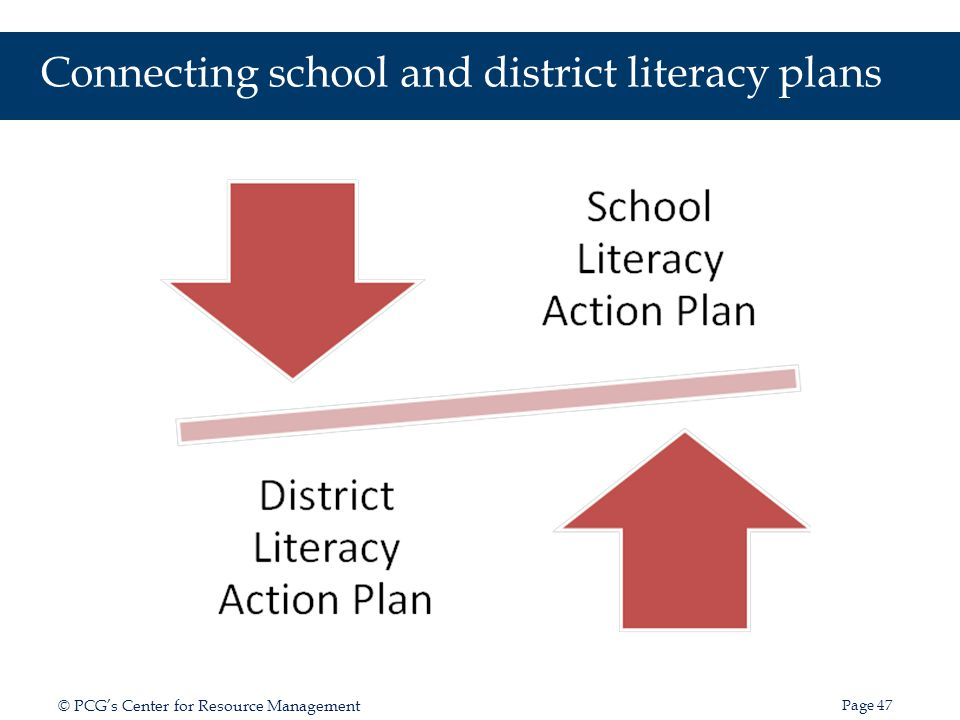 Connecting school and district literacy plans