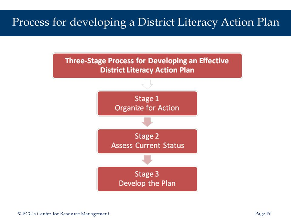 Process for developing a District Literacy Action Plan