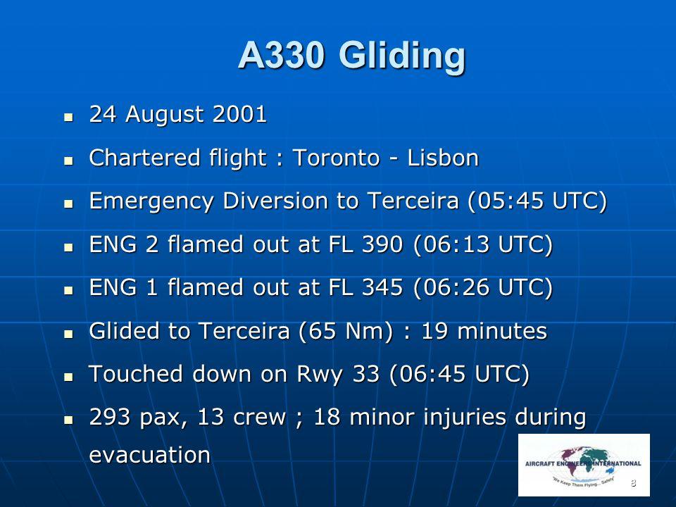 A330 Gliding 24 August 2001 Chartered flight : Toronto - Lisbon