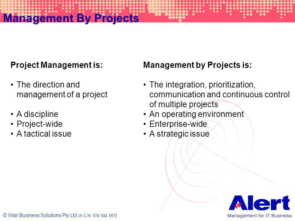 Management By Projects
