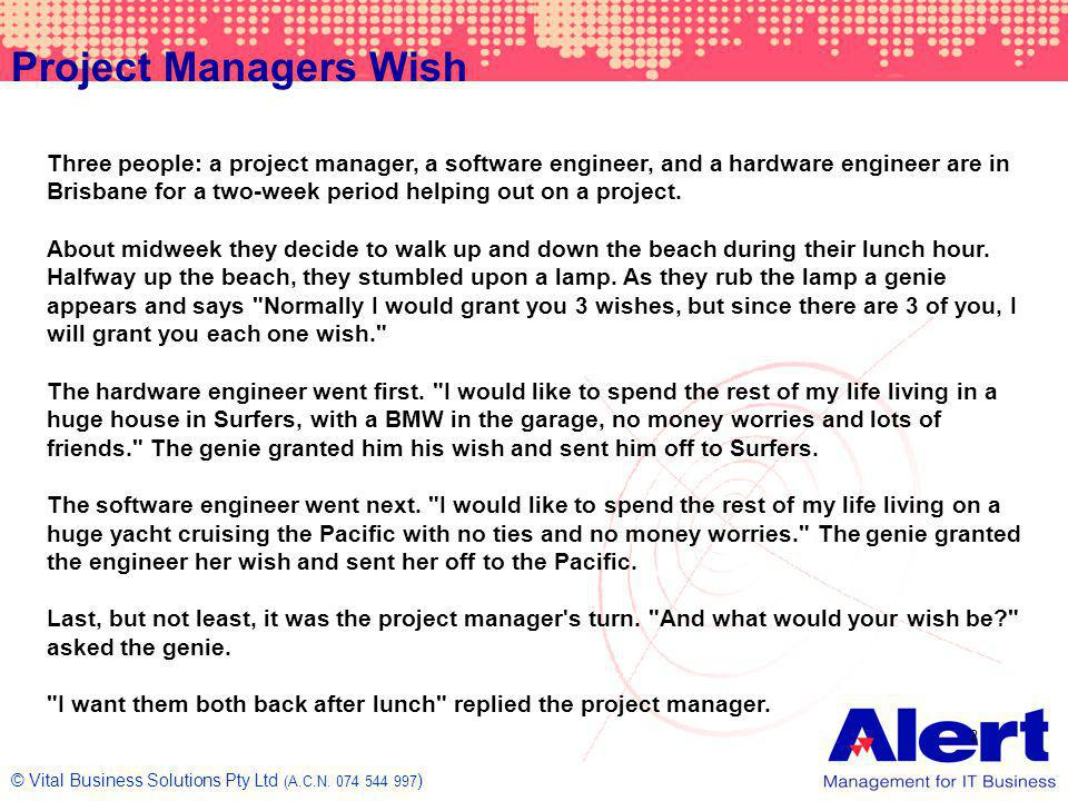 Project Managers Wish