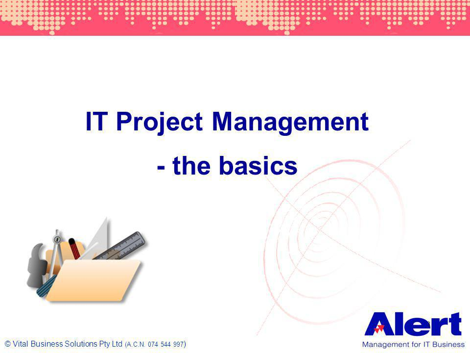 IT Project Management - the basics