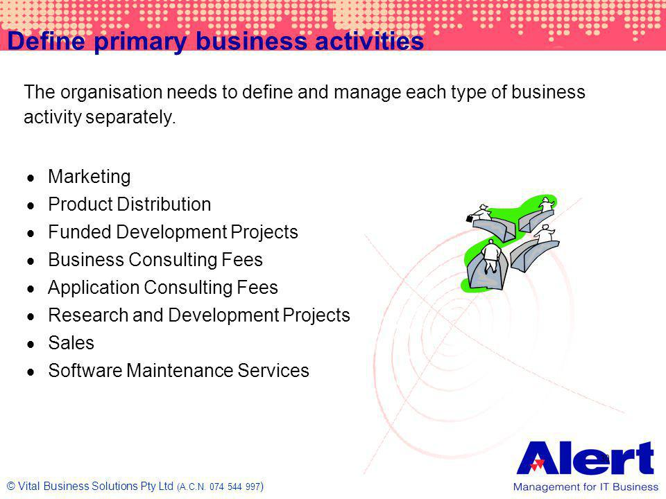 Define primary business activities