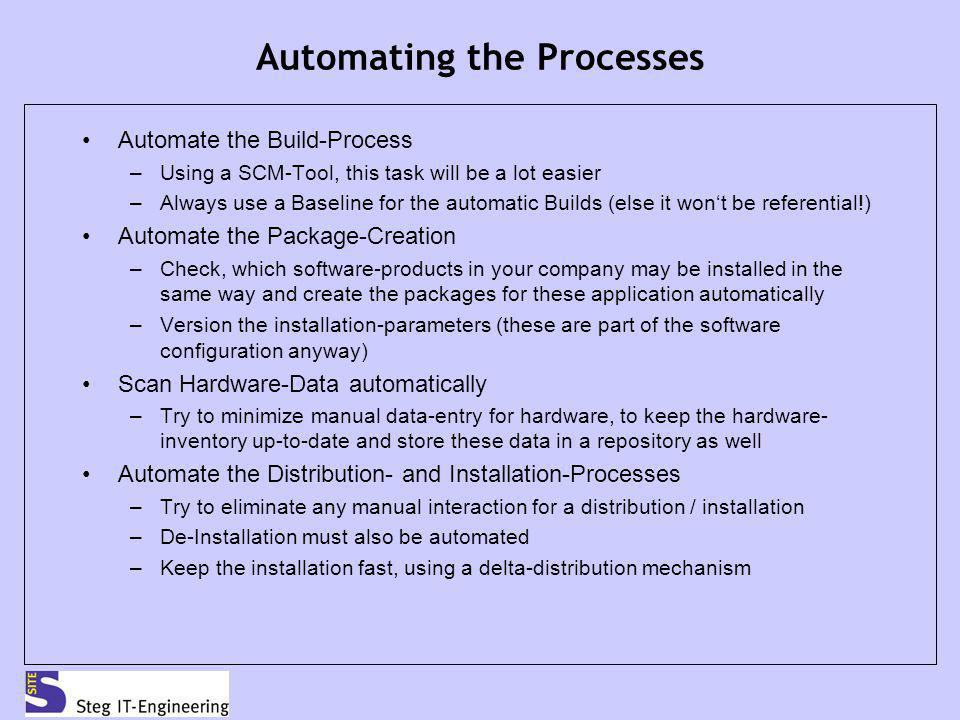 Automating the Processes