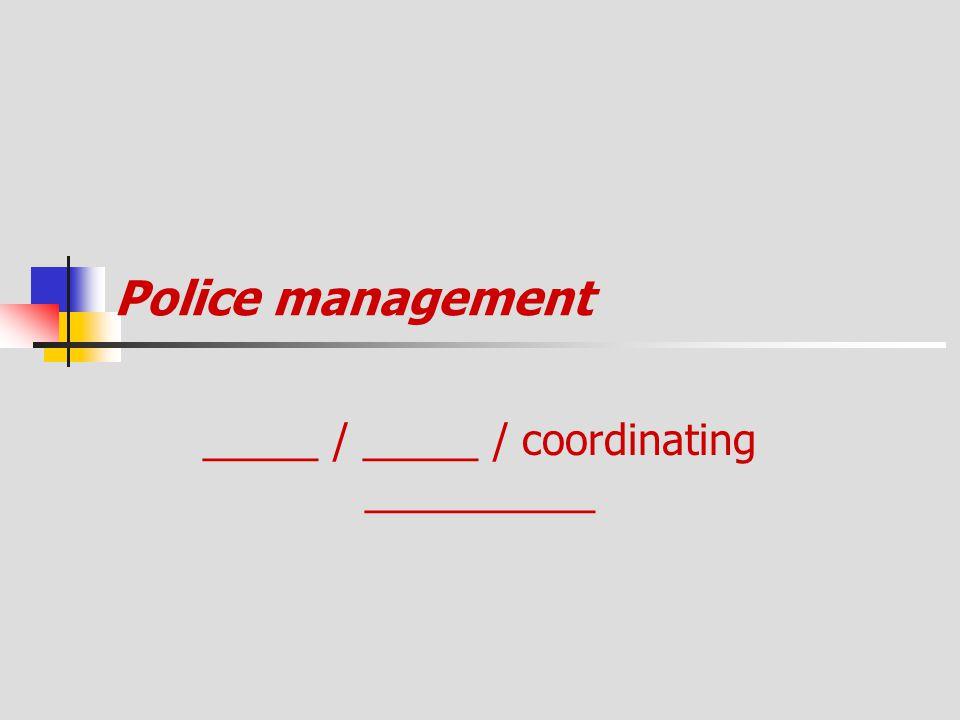 _____ / _____ / coordinating __________