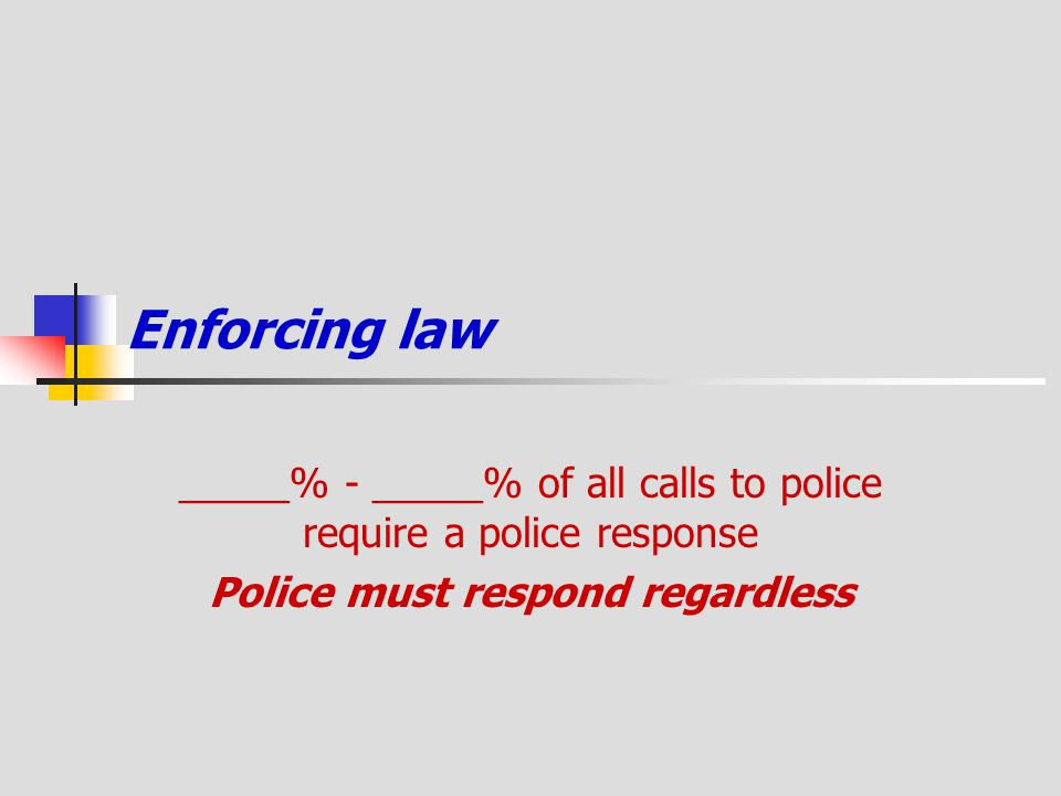 Police must respond regardless