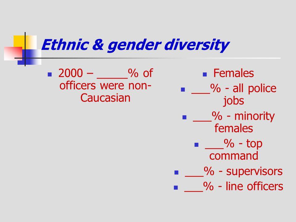 Ethnic & gender diversity
