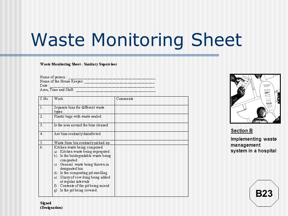 Waste Monitoring Sheet