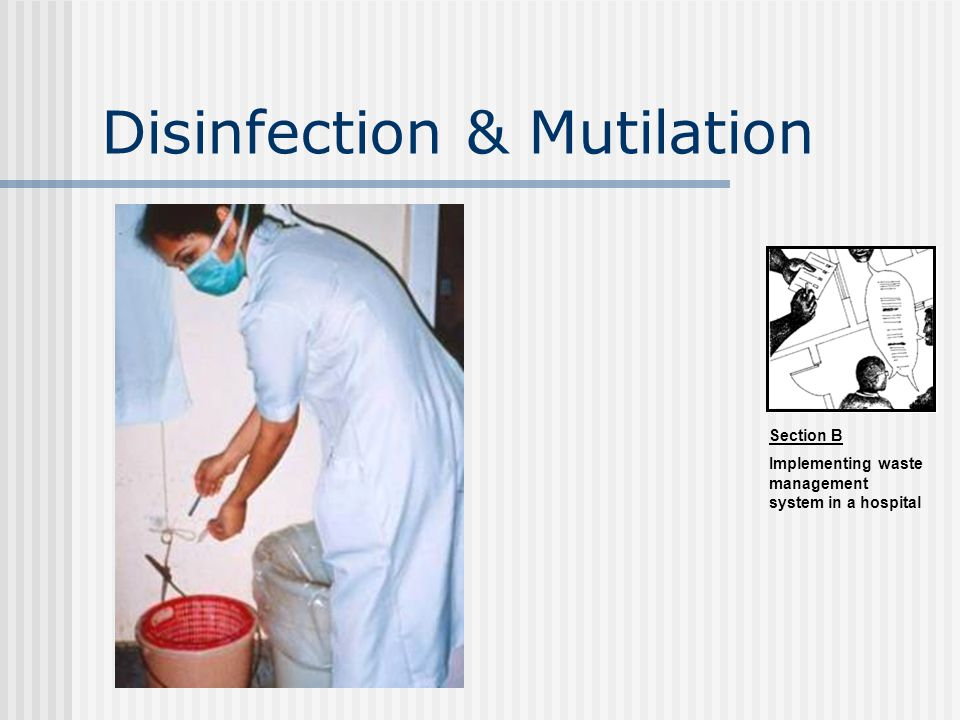 Disinfection & Mutilation