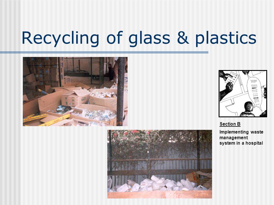 Recycling of glass & plastics