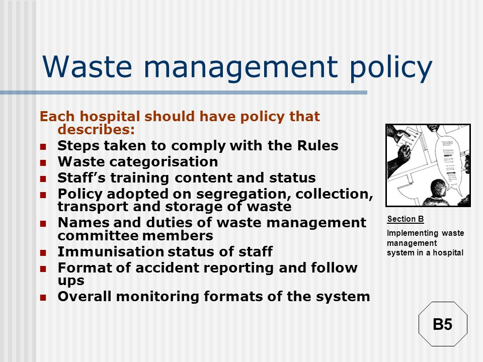 Waste management policy