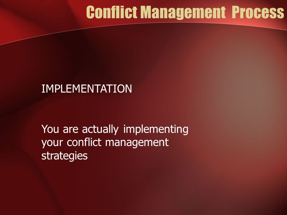 Strategies for Conflict Management