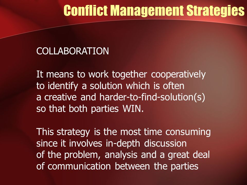 5 Conflict Management Strategies