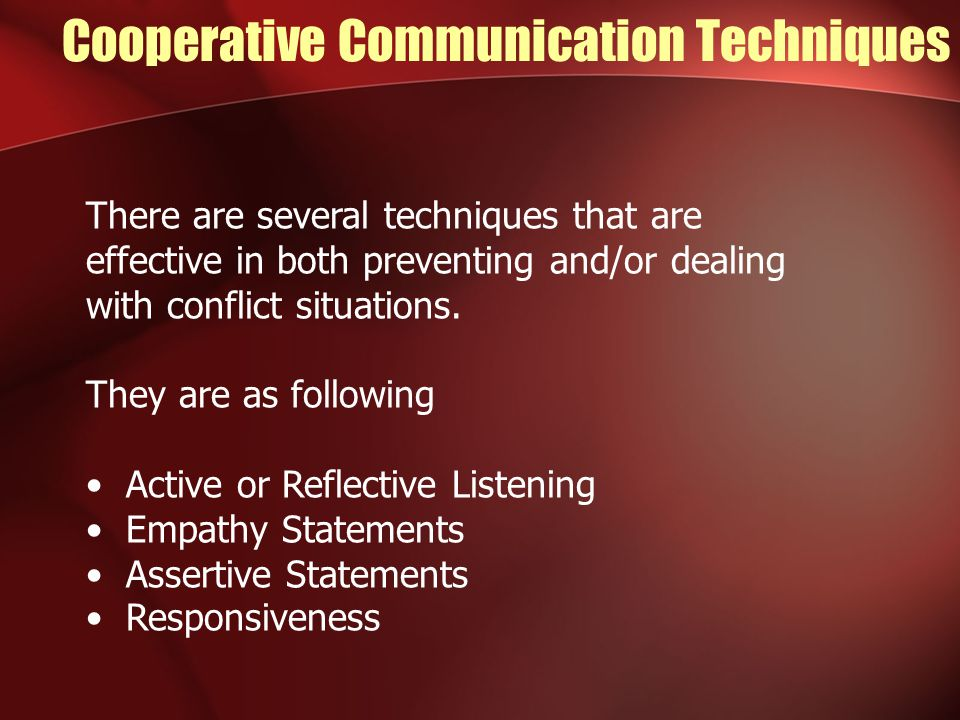 Cooperative Communication Techniques