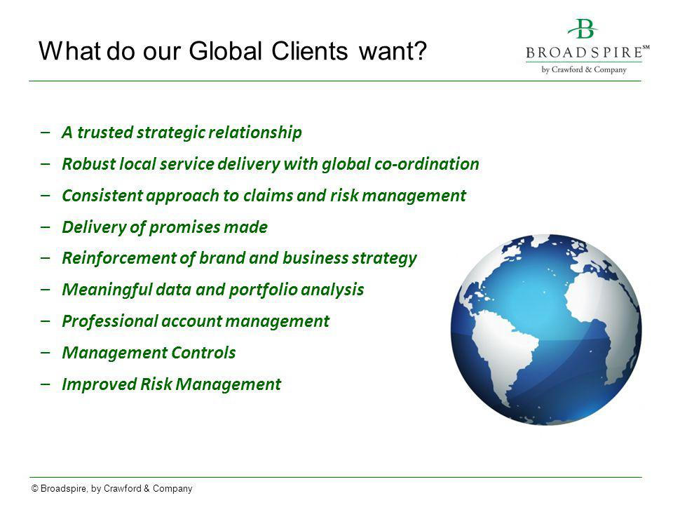 What do our Global Clients want