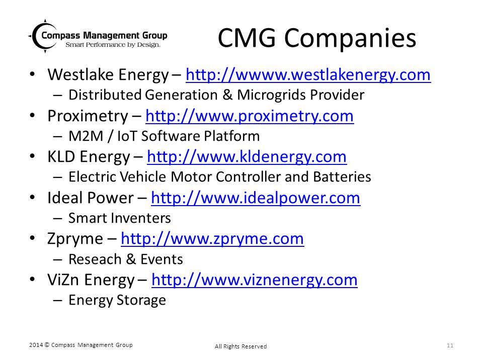 CMG Companies Westlake Energy – http://wwww.westlakenergy.com