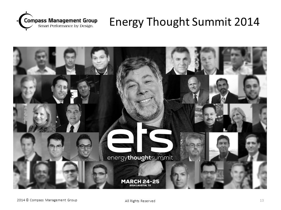 Energy Thought Summit 2014 2014 © Compass Management Group