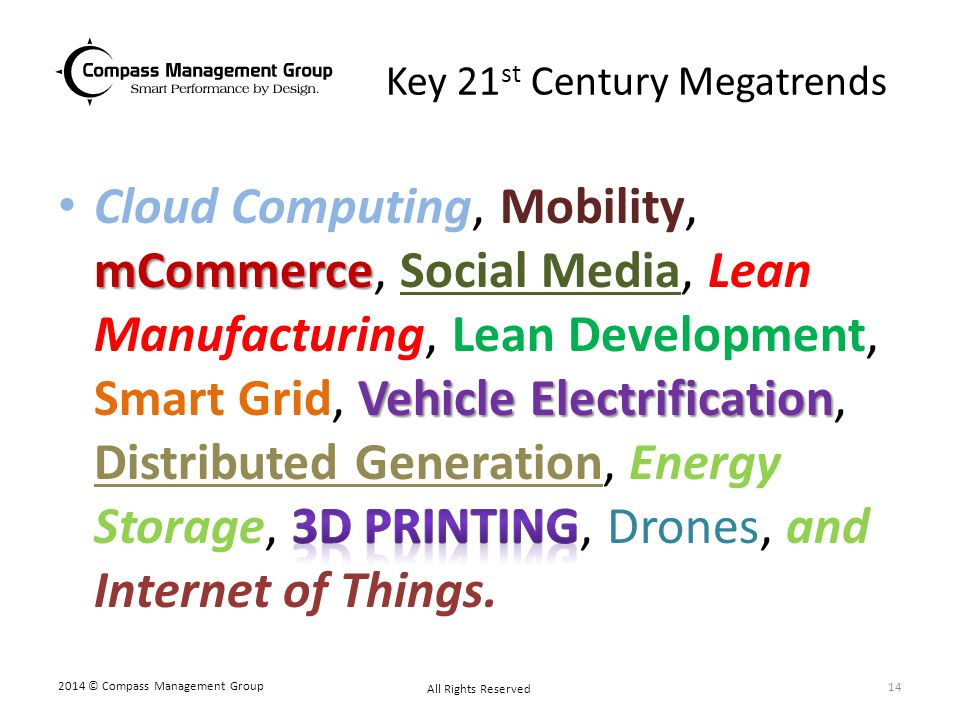 Key 21st Century Megatrends