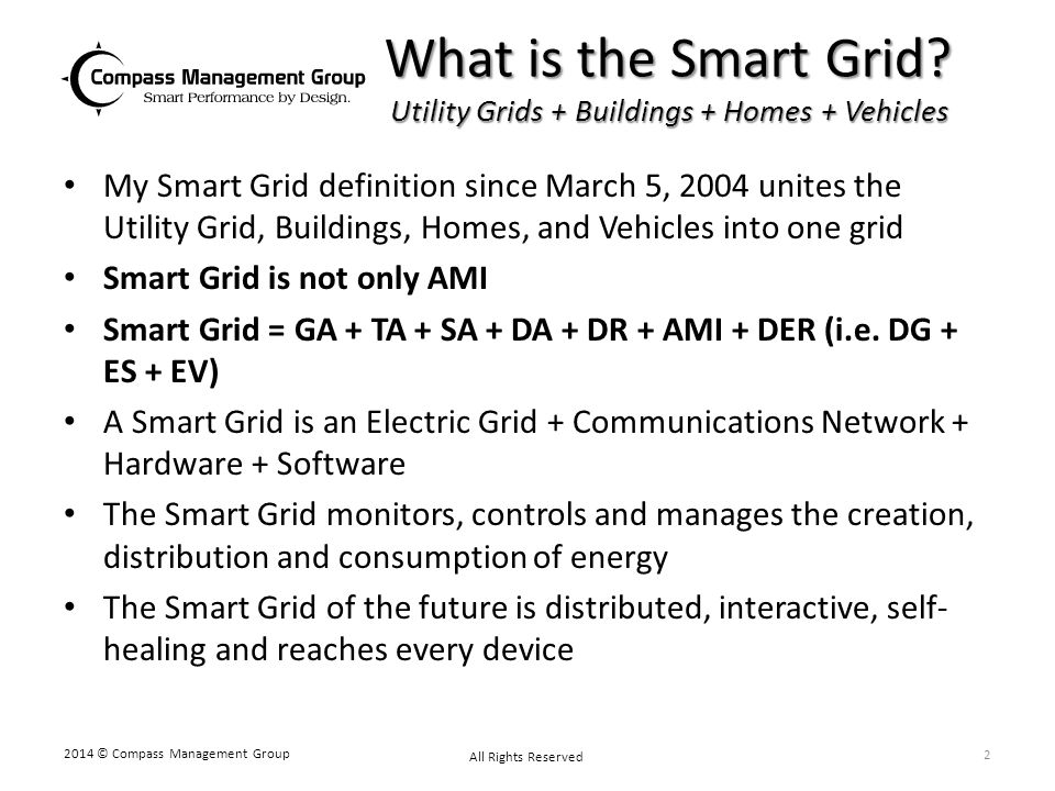 What is the Smart Grid Utility Grids + Buildings + Homes + Vehicles
