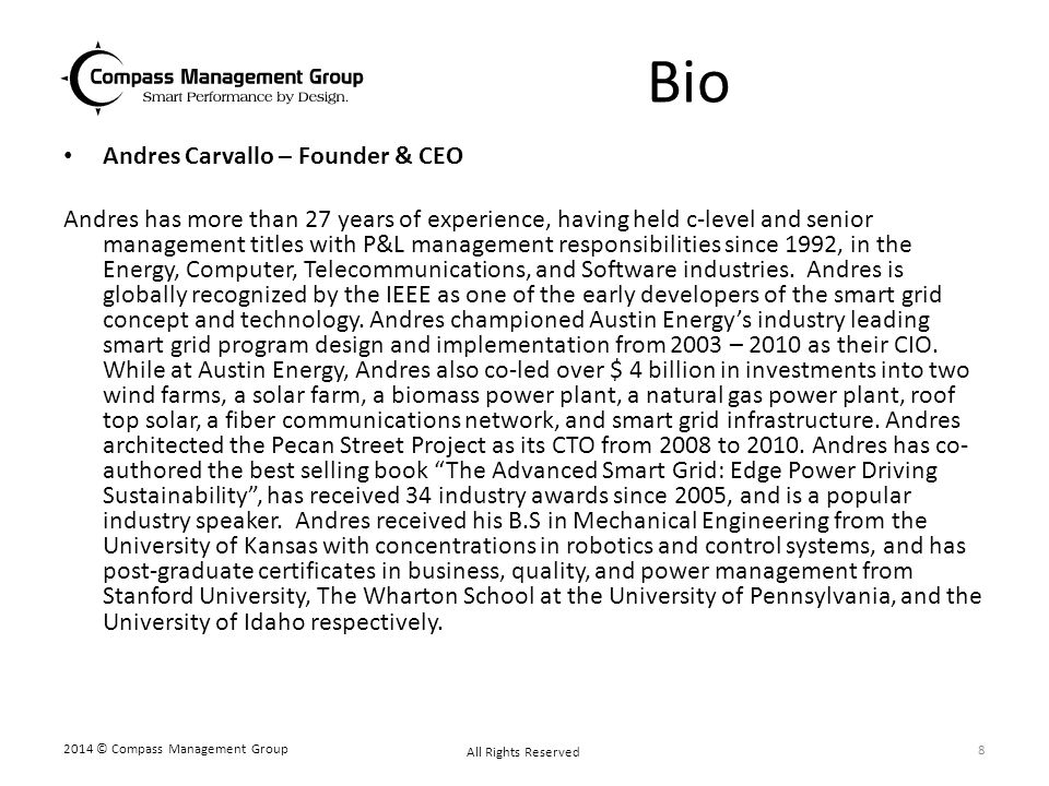 Bio Andres Carvallo – Founder & CEO