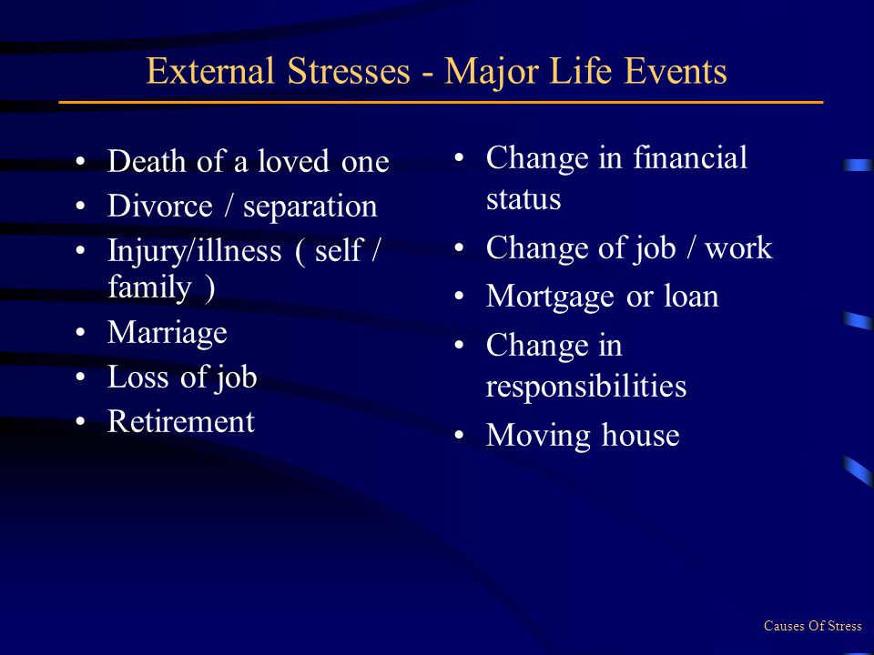 death of a loved one causes stress What are the effects of losing a loved one what are the causes and risk  loss of a loved one through death grief is  stress, grief may cause a.