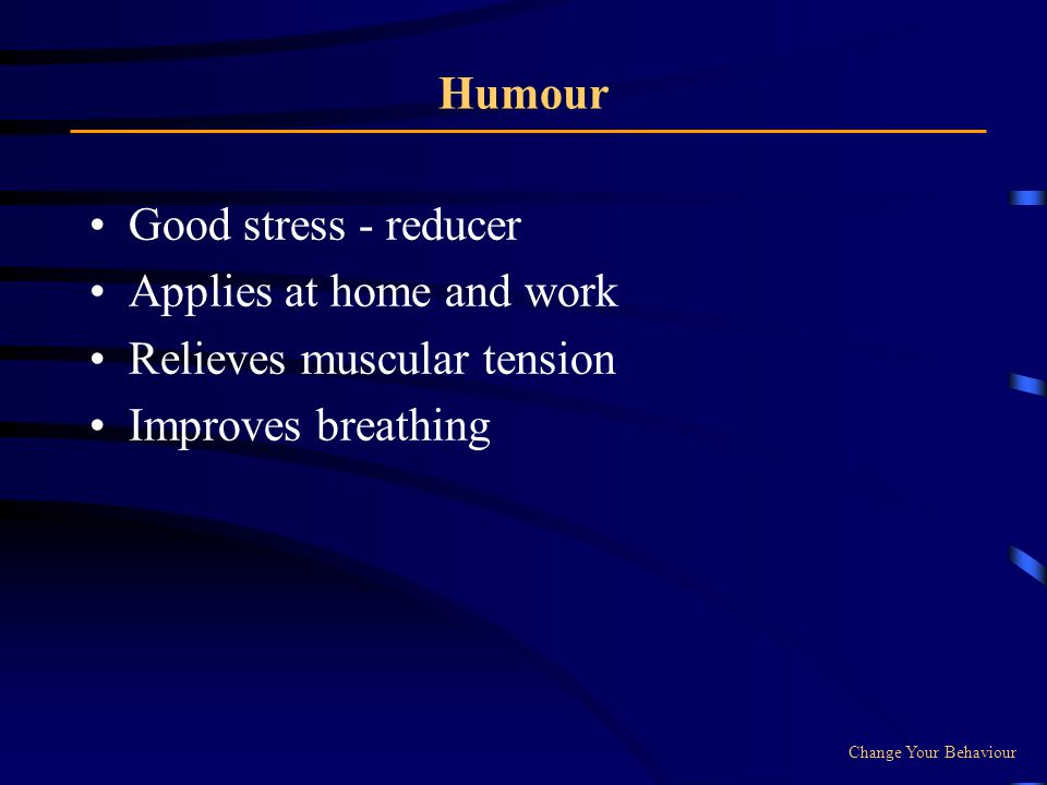 Applies at home and work Relieves muscular tension Improves breathing