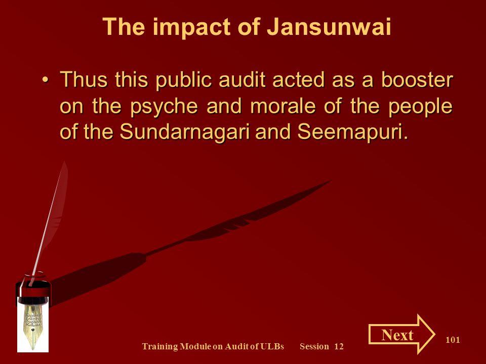 The impact of Jansunwai