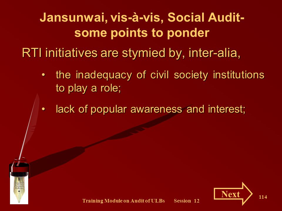 Jansunwai, vis-à-vis, Social Audit- some points to ponder