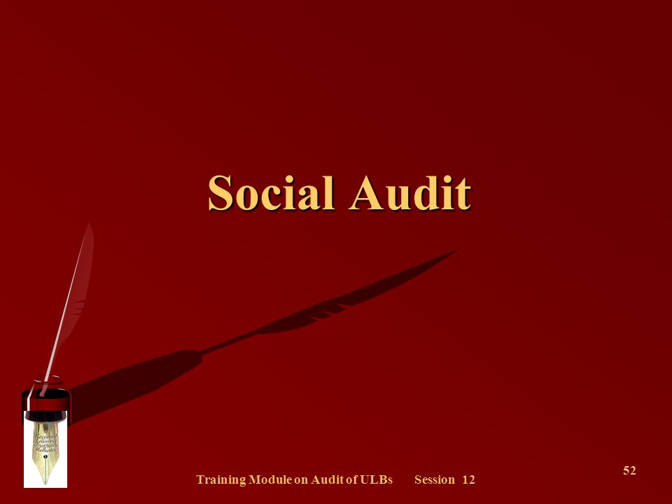 Training Module on Audit of ULBs Session 12