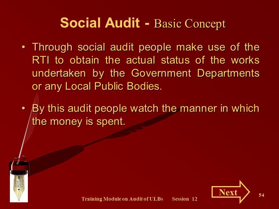 Social Audit - Basic Concept