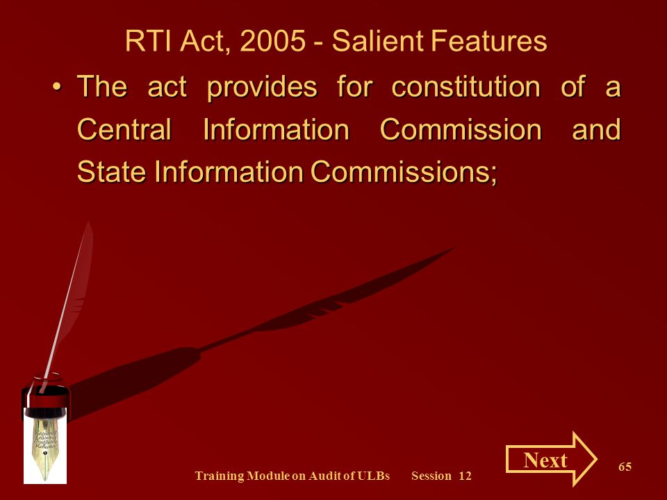 RTI Act, 2005 - Salient Features