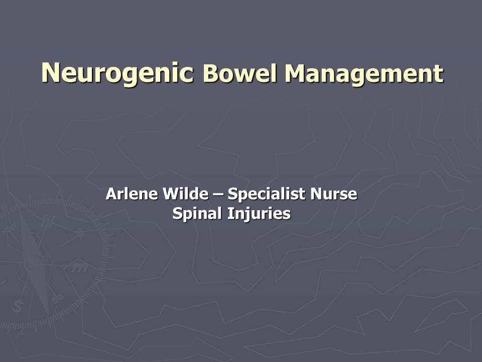 Neurogenic Bowel Management