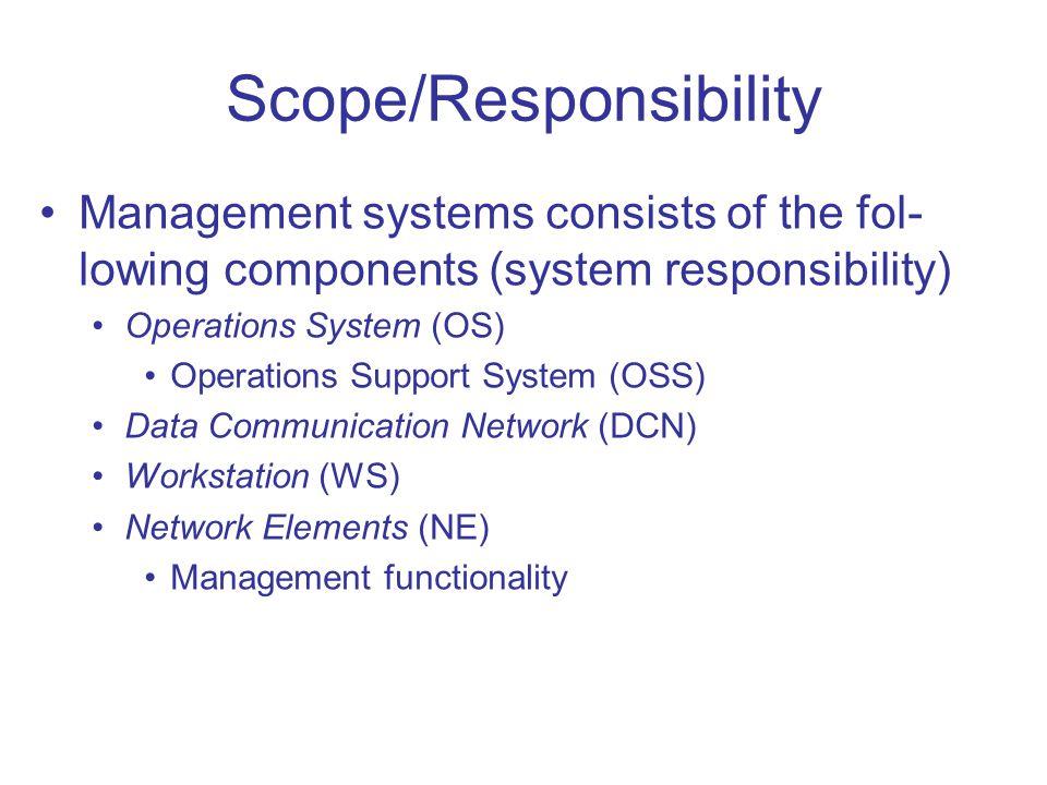 Scope/Responsibility