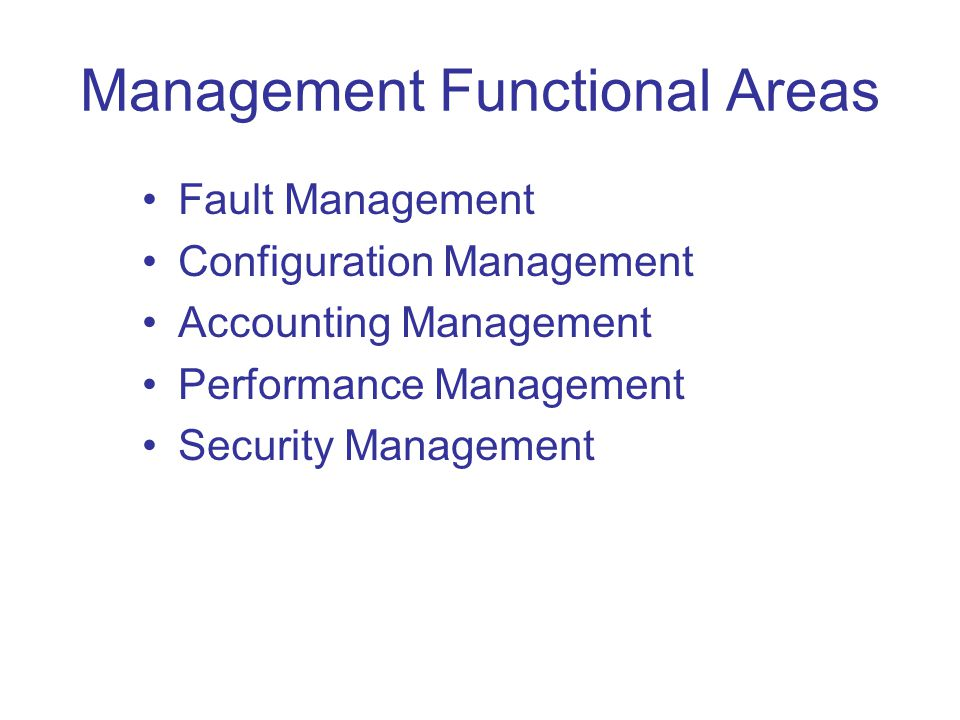 Management Functional Areas