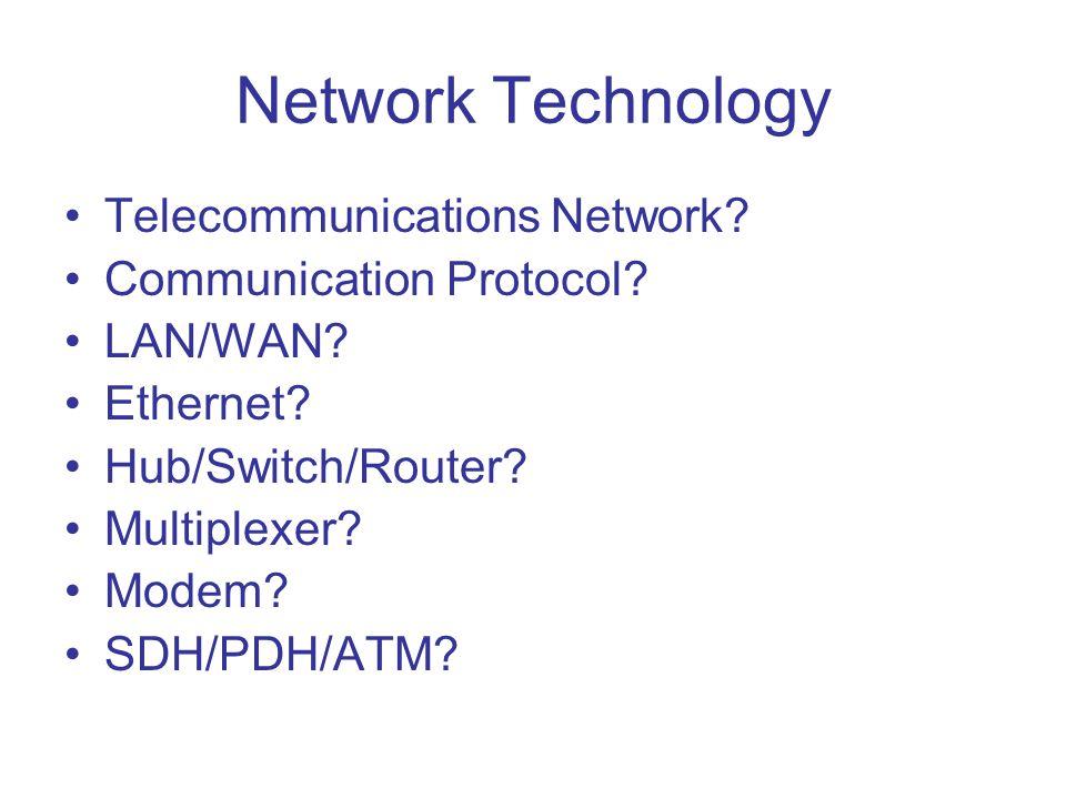 Network Technology Telecommunications Network Communication Protocol