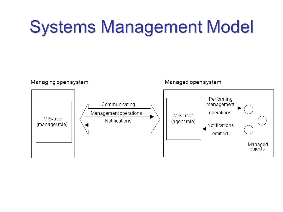 Systems Management Model